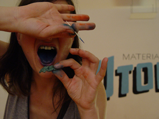 Blue tongue!